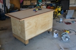 Cart case made of plywood